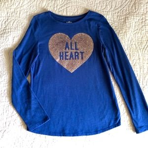 So Brand 'All Heart' Sparkle Graphic Tee - Girls